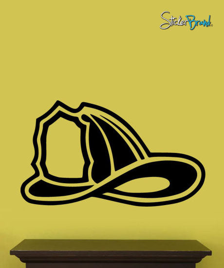 Vinyl Wall Decal Sticker Firefighter Helmet #314