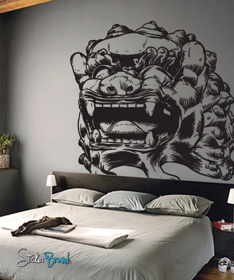 Vinyl Wall Decal Sticker Asian Chinese Foo Dog Statue #315