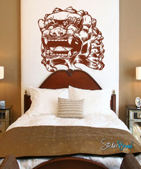 Vinyl Wall Decal Sticker Asian Chinese Foo Dog Statue - Vinyl wall decals asian