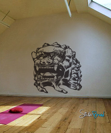 Vinyl Wall Decal Sticker Asian Chinese Dragon Statue - Vinyl wall decals asian