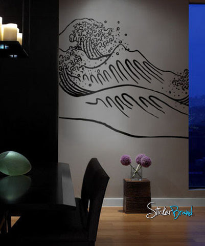 Vinyl Wall Decal Sticker Japanese Great Wave #316