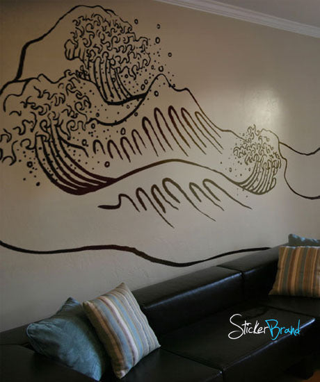 & Vinyl Wall Decal Sticker Japanese Great Wave #316