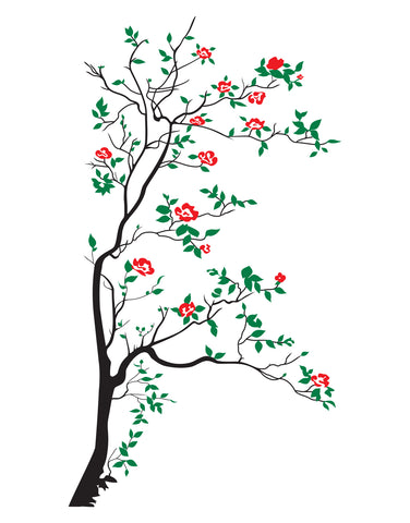 Tree with Blossom Leaves Wall Decal. #318