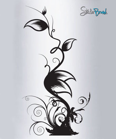 Vinyl Wall Decal Sticker Floral Leaves Swirls #322