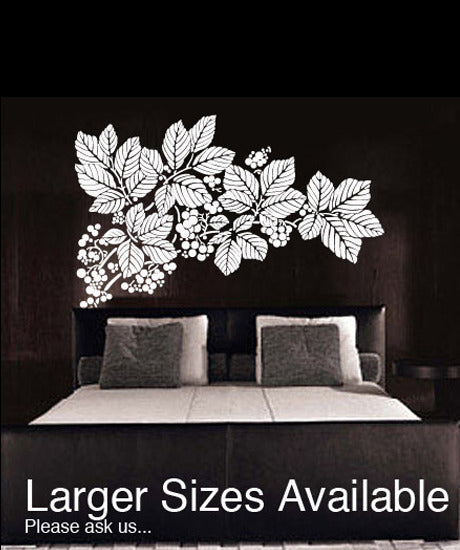 Vinyl Wall Decal Sticker Floral Fruit Pattern Flower #323