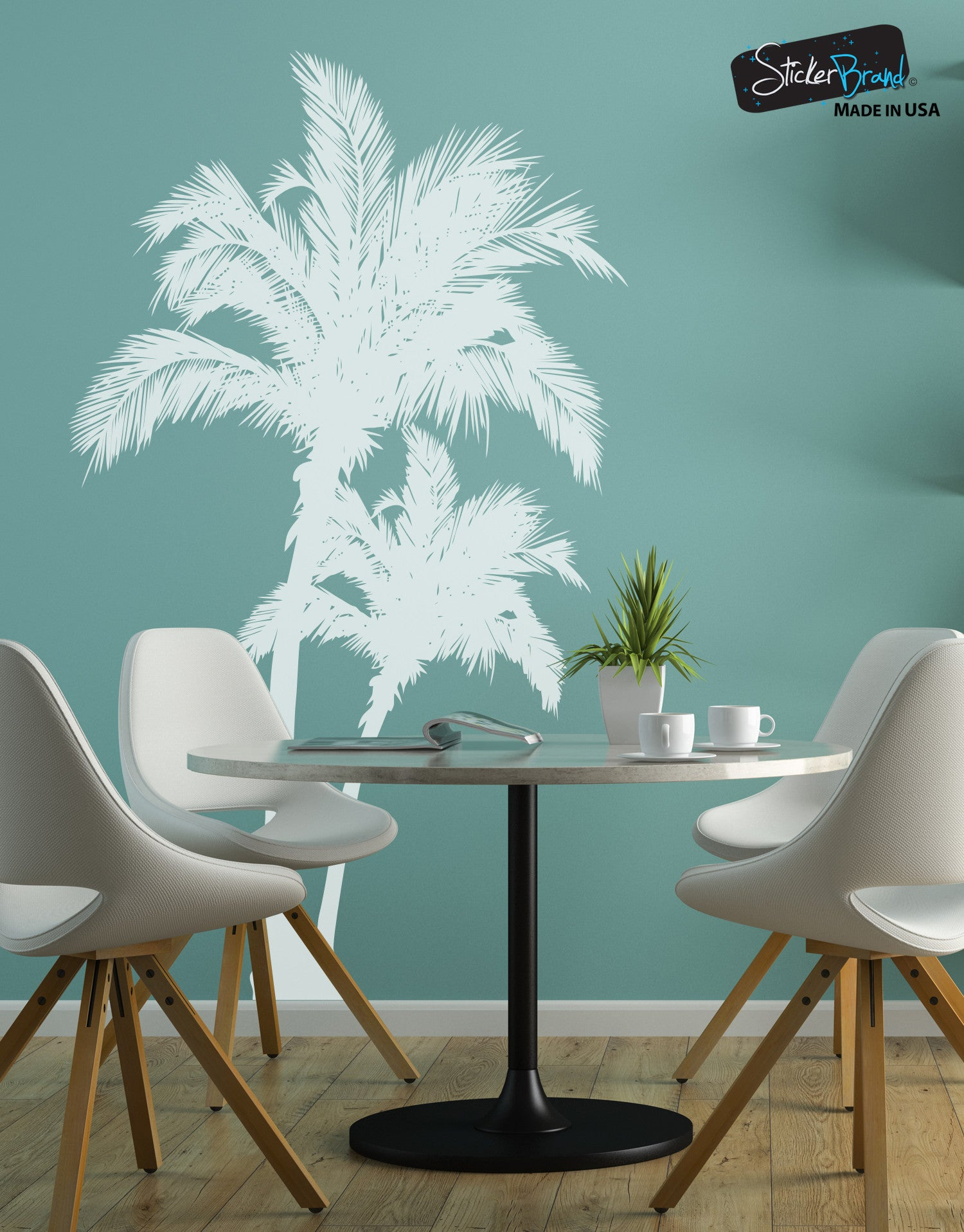 Beach palm trees vinyl wall decal sticker 327 amipublicfo Image collections