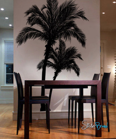 Vinyl Wall Decal Sticker Beach Palm Trees #327