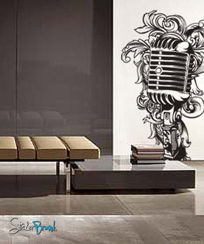 Vinyl Wall Decal Sticker Music Microphone MIC #328