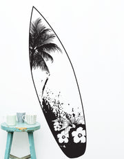 Beach House Surfboard Tropical Vibe Wall Decal Sticker. #329
