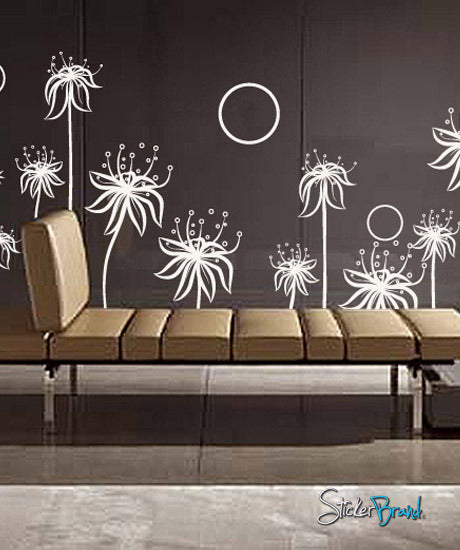 vinyl wall decal sticker flower floral blossom stem #330