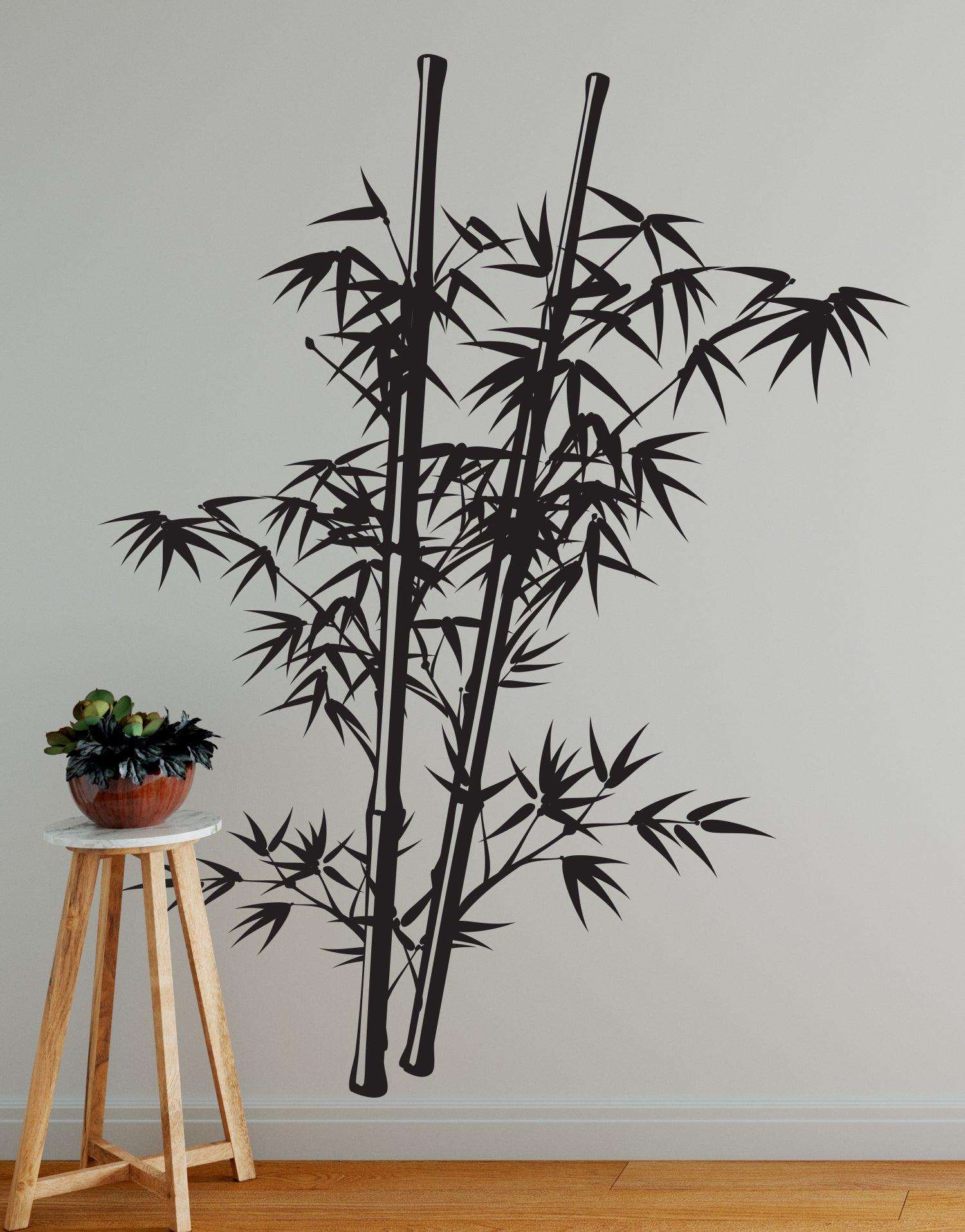 Chinese Bamboo Tree Wall Decal By Stickerbrand
