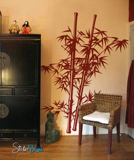 Vinyl Wall Decal Sticker Chinese Asian Bamboo - Vinyl wall decals asian