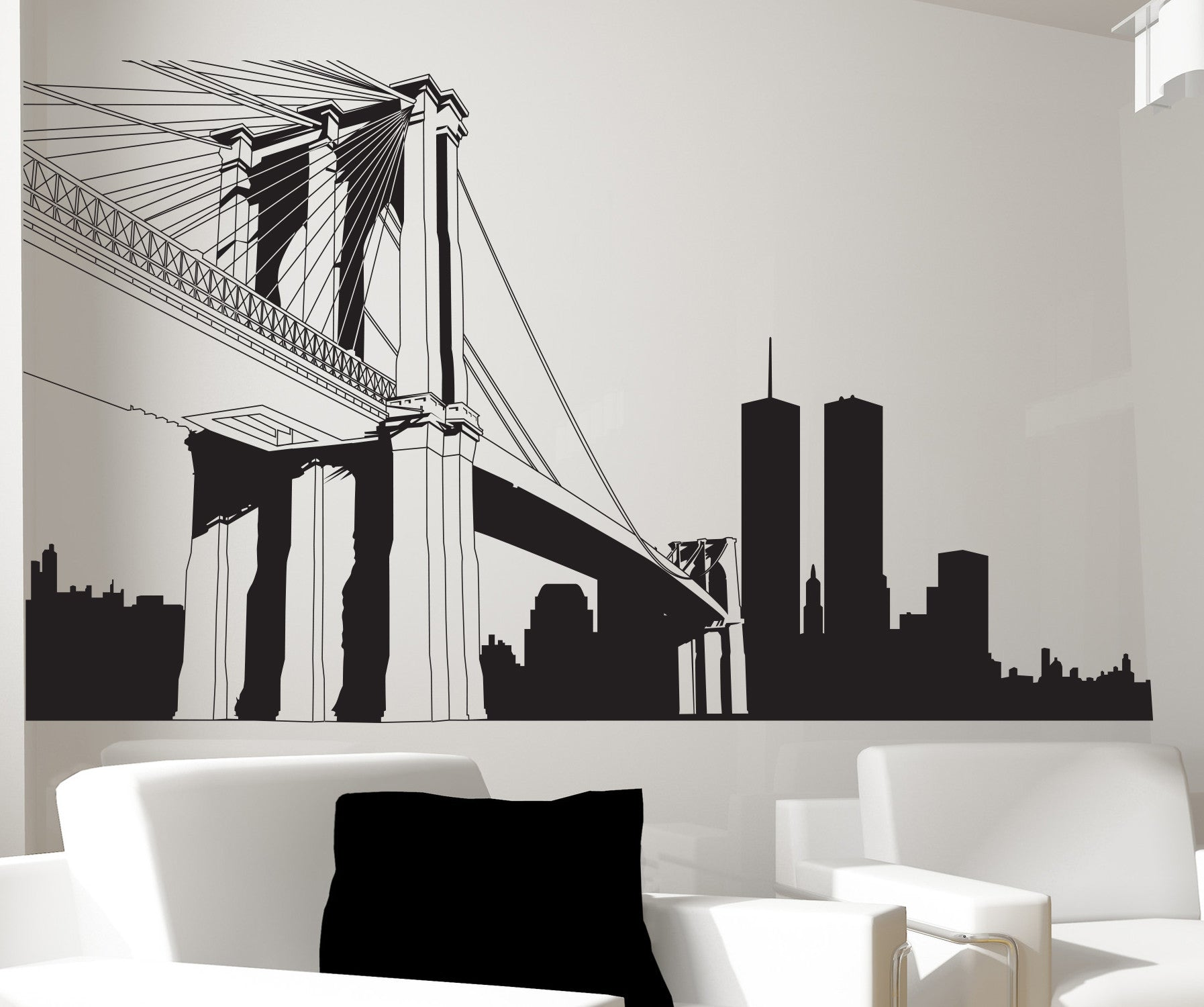 Nyc Brooklyn Bridge Wall Decal New York City Decor 334