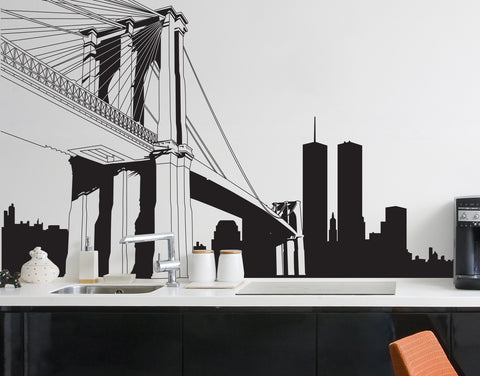 Vinyl Wall Decal Sticker NYC Brooklyn Bridge New York #334