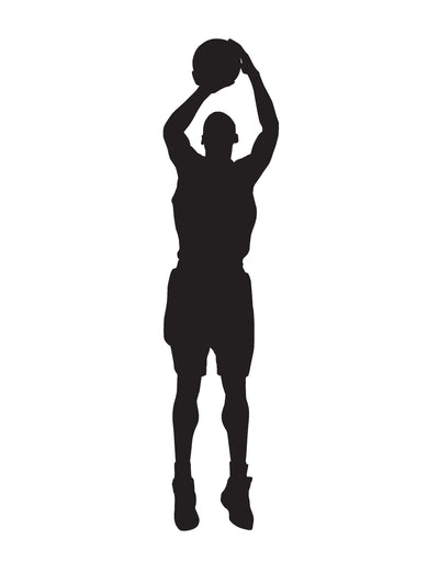 Basketball Player Shooting at the Hoop Vinyl Wall Decal Sticker. #339