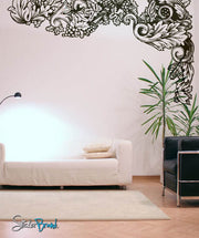 Vinyl Wall Decal Sticker Flower Leaves Pattern #343