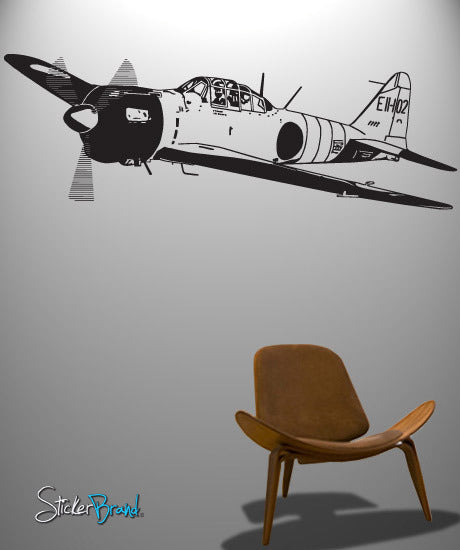 Vinyl Wall Decal Sticker World War II Fighter Plane #348