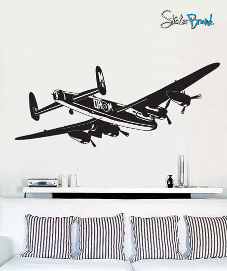 Vinyl Wall Decal Sticker World War II Bomber AirPlane #349