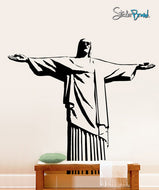 Vinyl Wall Decal Sticker Cristo Redentor Jesus Statue #353