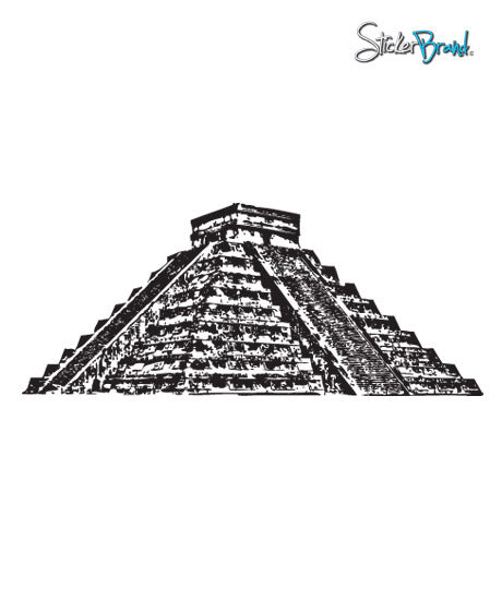 Vinyl Wall Decal Sticker El Castillo Chichen Pyramid #355