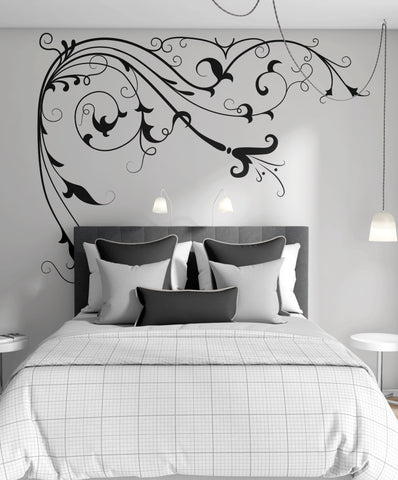 Large Flower Vines Floral Vinyl Wall Decal Sticker. #362