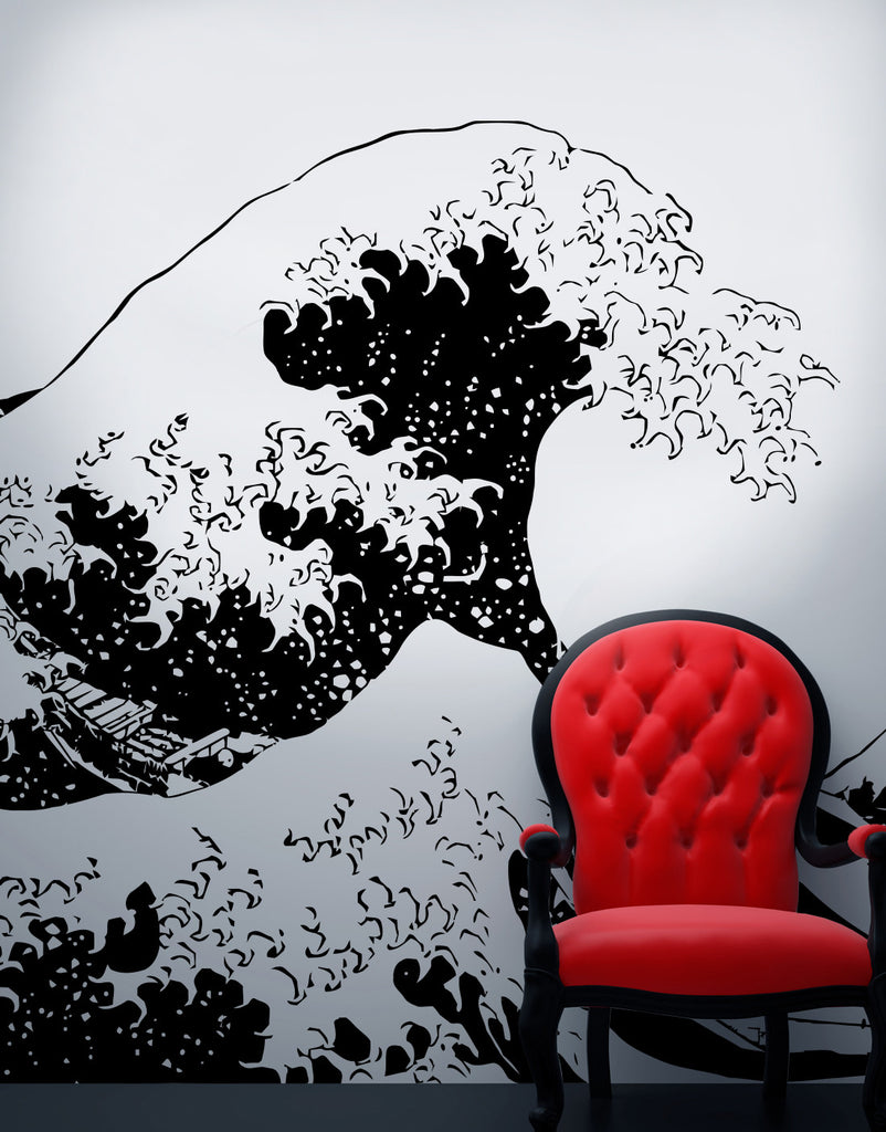 Japanese The Great Wave Off Kanagawa By Hokusai Wall Decal