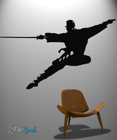 Vinyl Wall Decal Sticker Kung Fu Sword Martial Arts #371