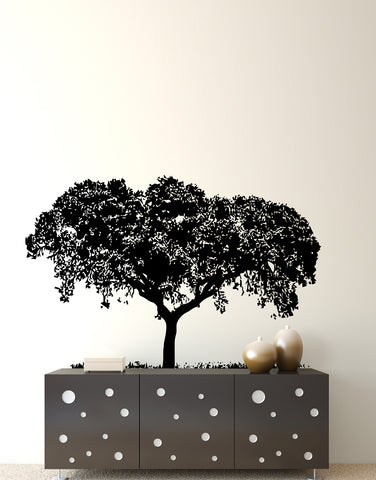 Overhanging Tree Top with Grass Vinyl Wall Decal Sticker. #386