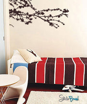 Vinyl Wall Decal Sticker Corner Tree Floral Branches #391