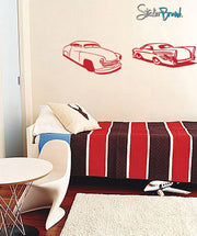 2 Classic Hot Rod Wall Decals. (Pair Set) #398