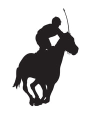 Jockey Horse Race Wall Decal. #399