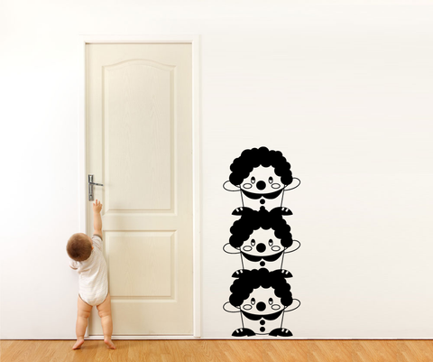 Vinyl Wall Decal Sticker Three Clowns #OS_MG315
