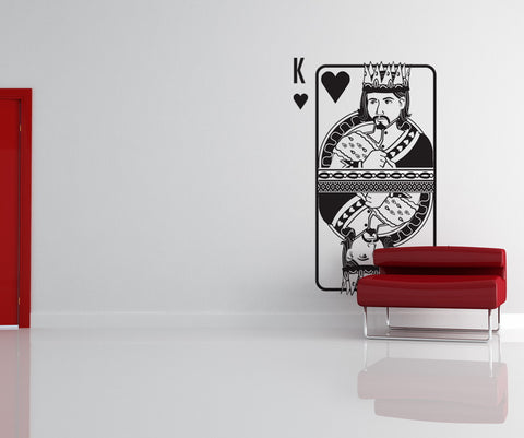 Vinyl Wall Decal Sticker King of Hearts #OS_DC368