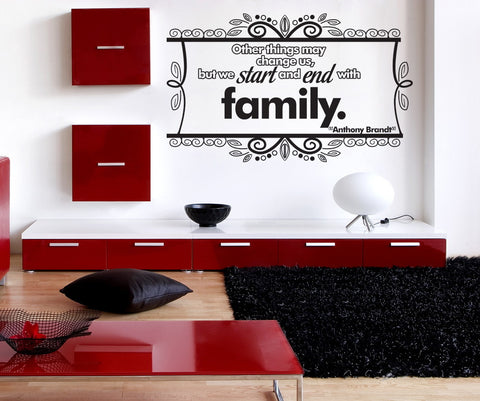 Vinyl Wall Decal Sticker Family Quote #OS_DC339