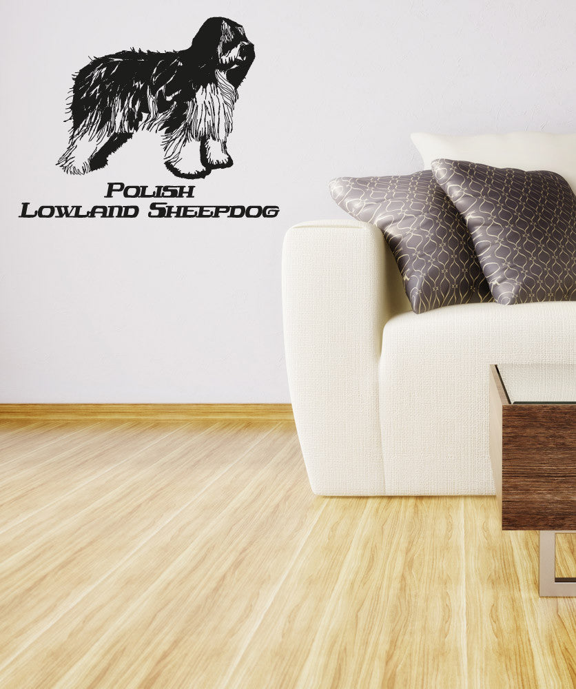 Vinyl Wall Decal Sticker Polish Lowland Sheepdog #OS_AA629