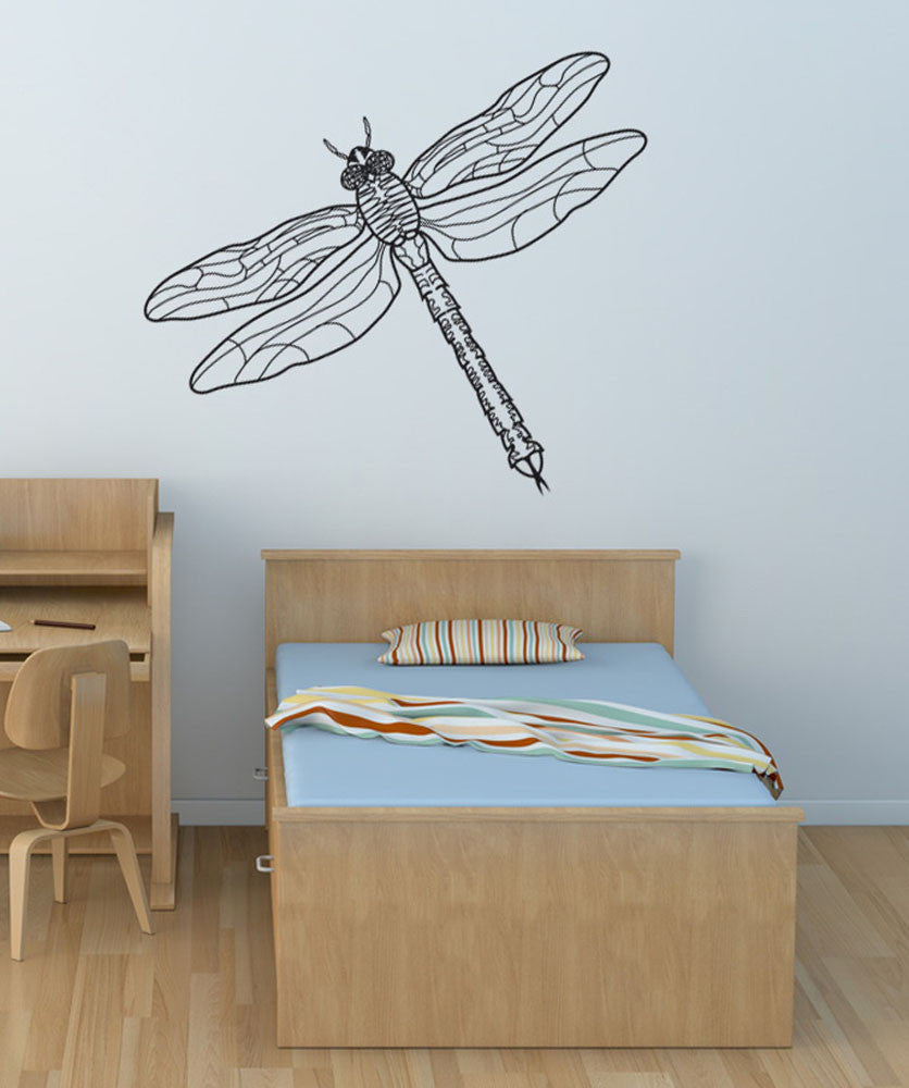 Vinyl Wall Decal Sticker Dragonfly #OS_DC207