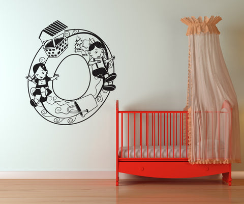 Vinyl Wall Decal Sticker Jack and Jill Number Zero #OS_DC238
