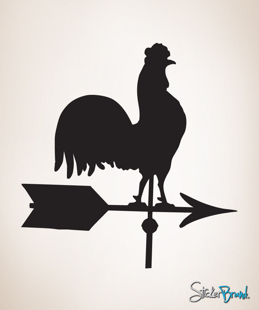 Vinyl Wall Decal Sticker Rooster Wind Weathervane 401