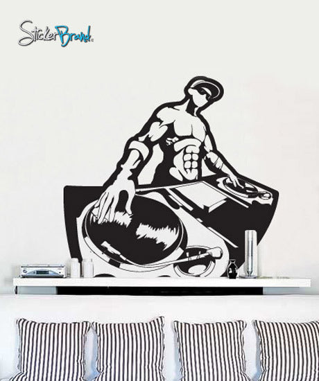 Vinyl Wall Decal Sticker Turntable DJ Urban Party #405