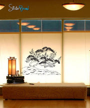 Vinyl Wall Decal Sticker Oriental Flowers Ornament #406