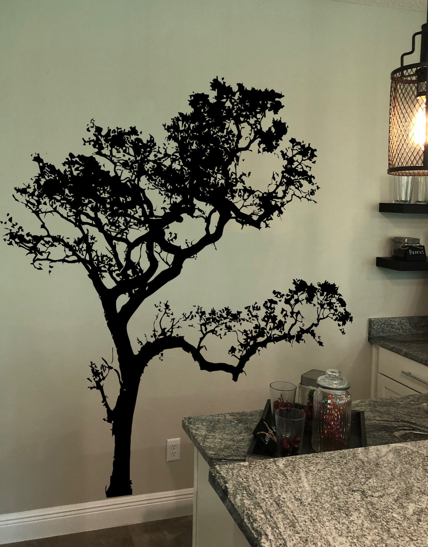 Big Oak Tree Wall Decal #409