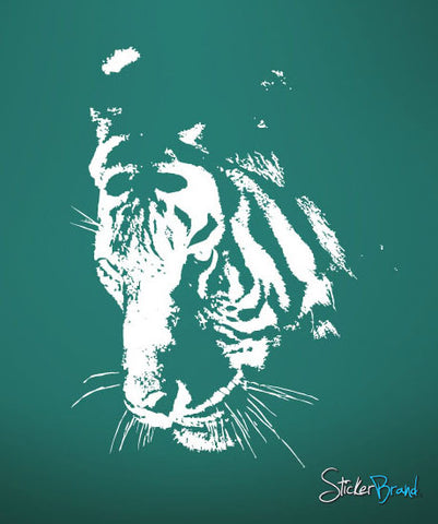 Vinyl Wall Decal Sticker Large Tiger Face #411