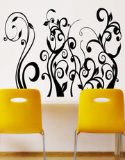 Floral Flower Plant Vinyl Wall Decal Sticker.  #416