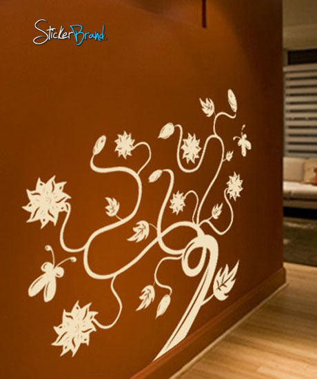 Vinyl Wall Decal Sticker Large Swirl Flower #420