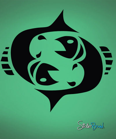 Vinyl Wall Decal Sticker Pisces Zodiac Sign #428
