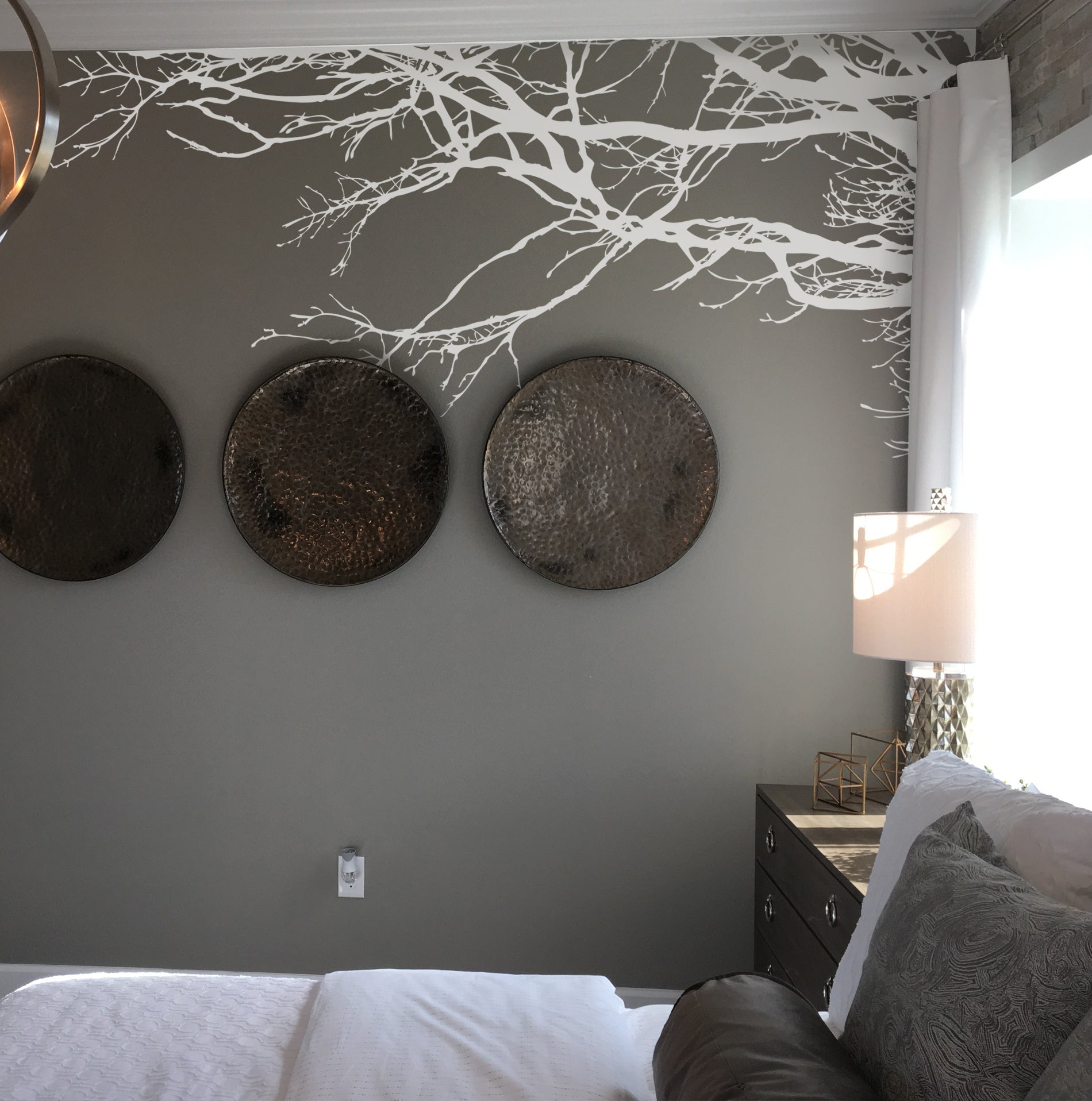 Tree Top Branches Wall Decal Corner Edge Application Decor #444
