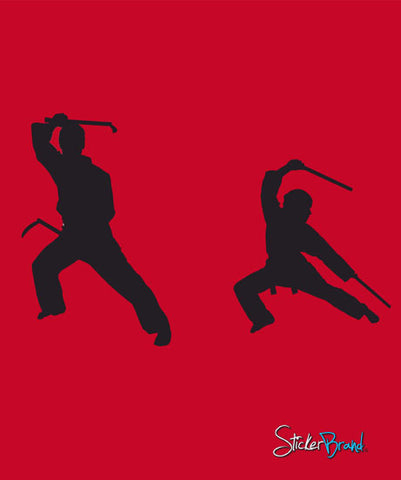 Vinyl Wall Decal Sticker Kung Fu Weapon Karate #446