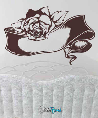 Vinyl Wall Decal Sticker Rose Banner #450