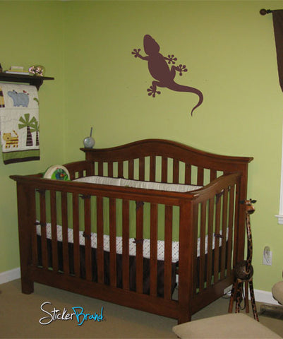 Vinyl Wall Decal Sticker Gecko Lizard #451