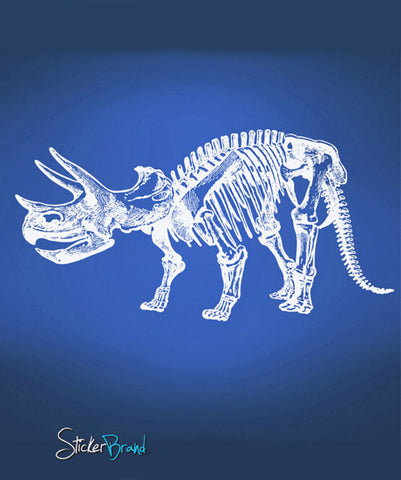 Vinyl Wall Decal Sticker Dinosaur Triceratops Bones #452